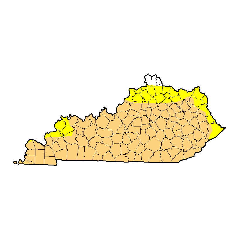 The extent of the drought across Kentucky as of November 1st. h/t droughtmonitor.url.edu