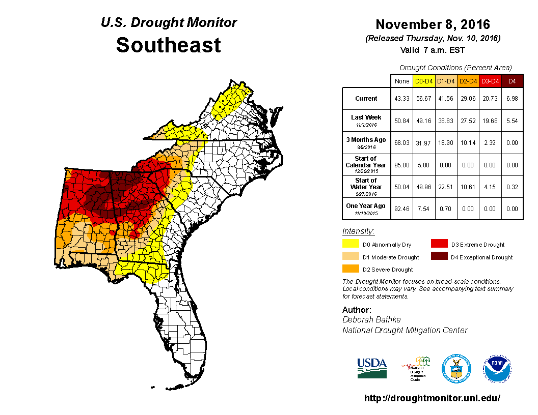 The Southeast Is Battling Wildfires WxornotBG - Wildfires in southeastern us map