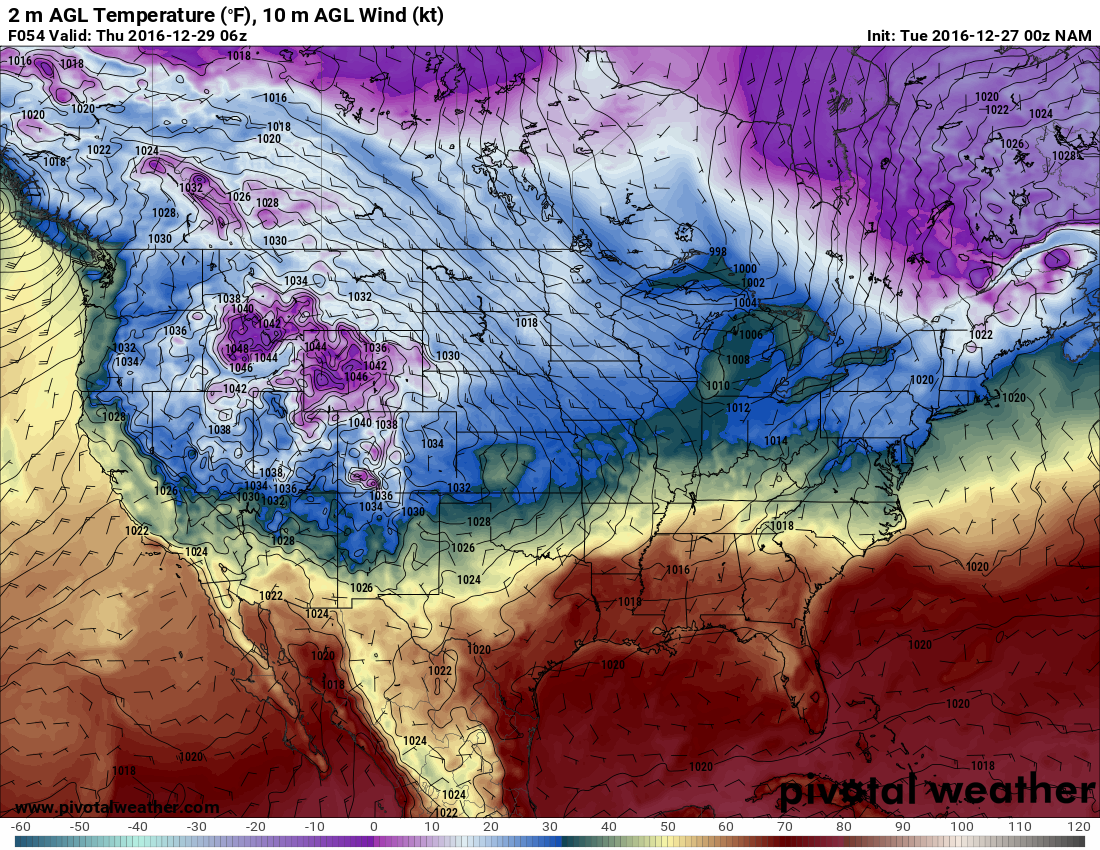 The cold front looks to help enhance lift to give us precip on Wednesday night. h/t pivotalweather.com