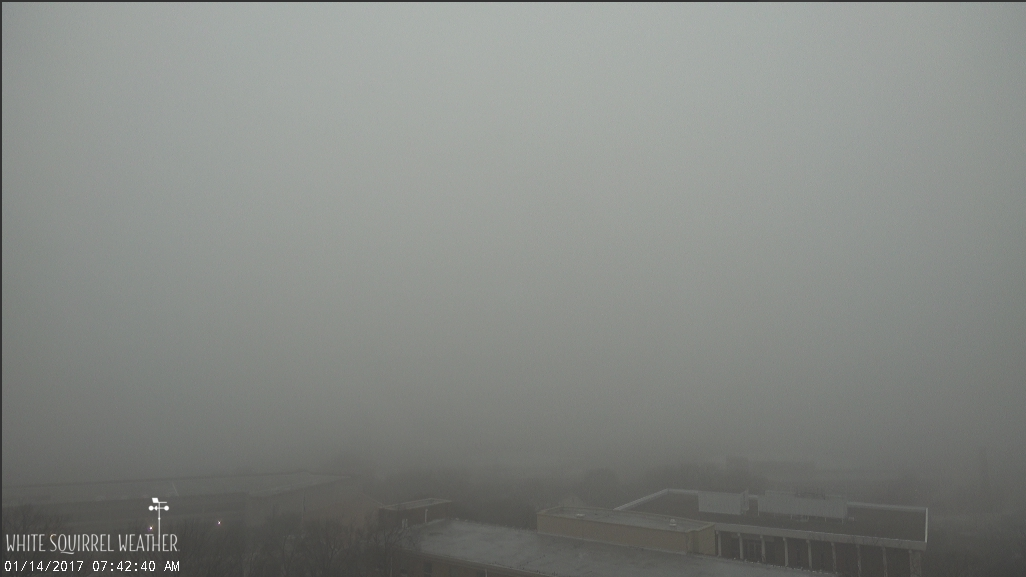 The fog is thick this morning! h/t White Squirrel Weather