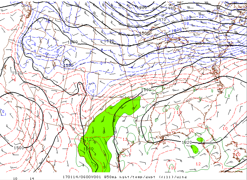 The southerly flow helped to set the stage for heavy freezing rain across the central US. h/t SPC