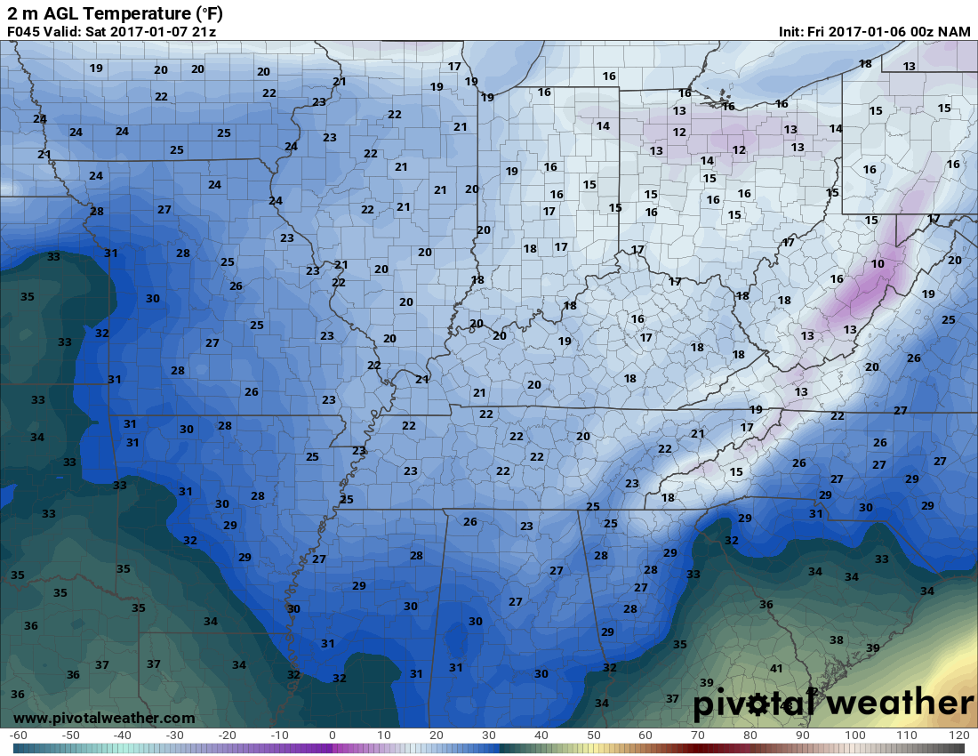 Nam Temperatures Valid For 3pm Tomorrow Yes Pm Pivotal Weather