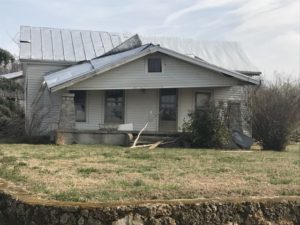 House damaged by a possible tornado in eastern Warren County near Cemetery Road. (Melissa Moore/Warren County Emergency Management)